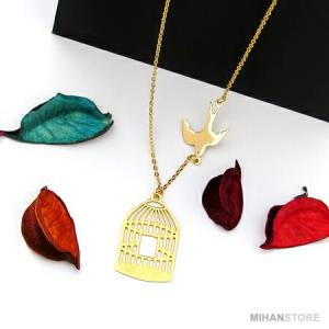 گردنبند مرغ آمین طرح Golden-تصویر 2