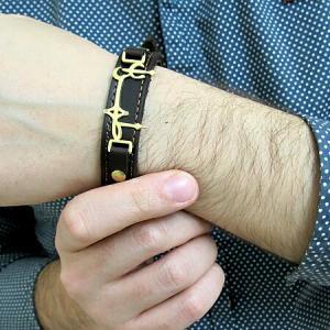 دستبند چرمی طرح طهران-تصویر 5