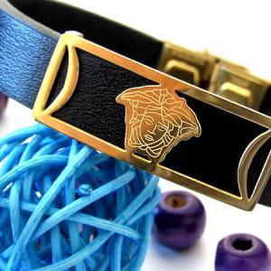 دستبند چرم طرح ورساچه-تصویر 2
