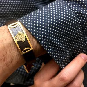 دستبند چرم طرح ورساچه-تصویر 3
