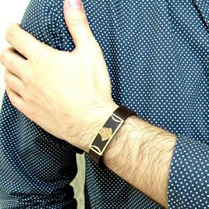 دستبند چرم طرح ورساچه-تصویر 4