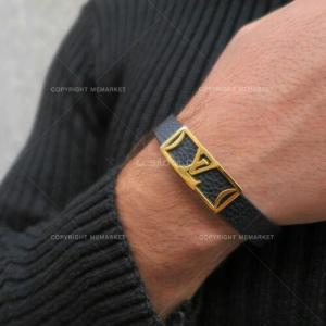 دستبند چرم طرح LV