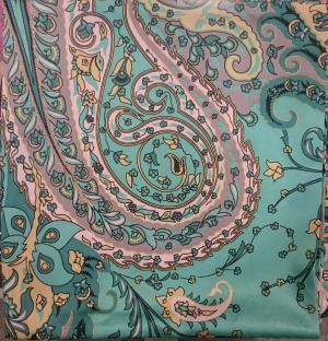 روسری ساتن طرح ترمه-تصویر 2