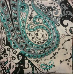 روسری ساتن طرح ترمه-تصویر 5