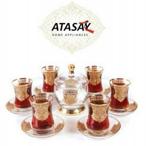 سرویس 14 پارچه چای خوری طلاکوب آتاسای