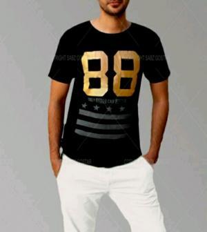 تیشرت مردانه ITALY 88 Black