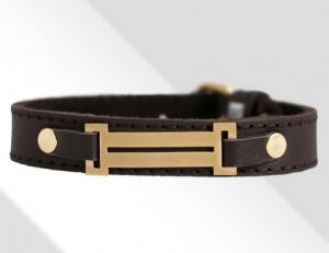 دستبند چرم رومی (طرح طلا)