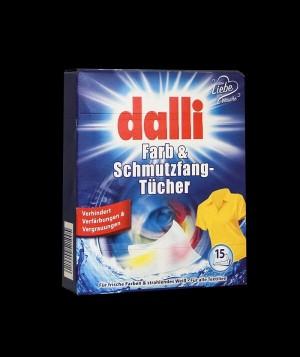دستمال رنگ گیر رنگی و ضدکرک مخصوص ماشین لباسشویی 15 عددی دالی آلمان