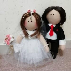 عروسک روسی عروس و داماد سایز بزرگ-تصویر 2
