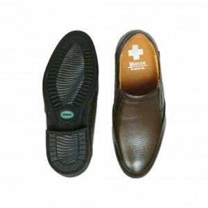 کفش چرمی مجلسی طبی مدل کامرا رنگ قهوه ای-تصویر 4