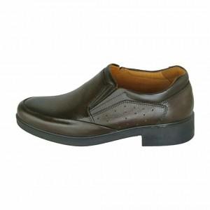 کفش چرمی مجلسی طبی مدل کامرا رنگ قهوه ای