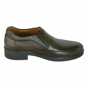 کفش چرمی مجلسی طبی مدل کامرا رنگ قهوه ای-تصویر 2