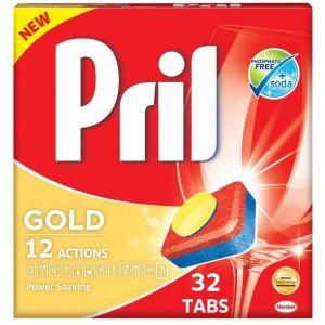 قرص ماشین ظرفشویی پریل مدل GOLD بسته 32 عددی-تصویر 2