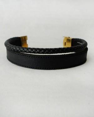 دستبند چرم و استیل-تصویر 3