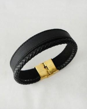 دستبند چرم و استیل