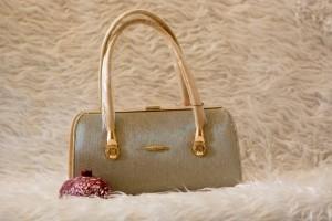 کیف شب خاکستری نقره ای