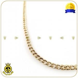 گردنبند طلا تمام کارتیه عرض 0.5-تصویر 3