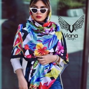 روسری گلدار رنگی-تصویر 2