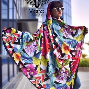 روسری گلدار رنگی-تصویر 3