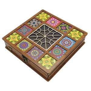 جعبه آجیل پذیرایی جعبه چوبی مدل چاپی کد LB042-تصویر 4