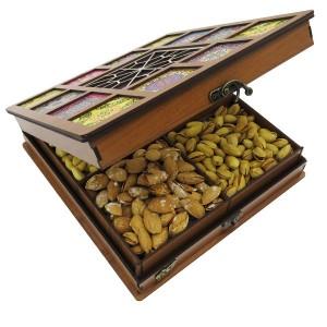 جعبه آجیل پذیرایی جعبه چوبی مدل چاپی کد LB042-تصویر 3
