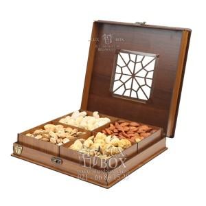 جعبه آجیل و خشکبار جعبه پذیرایی جعبه چوبی مدل چاپی کد LB042-تصویر 3