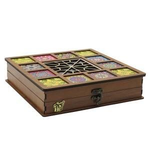 جعبه آجیل پذیرایی جعبه چوبی مدل چاپی کد LB042-تصویر 5