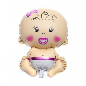 بادکنک فویلی طرح نوزاد دختر