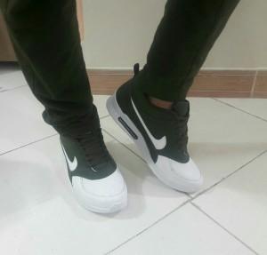 کفش مردانه نایک سبز و سفید