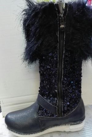 کفش ساقدار دخترانه تمام خز-تصویر 3