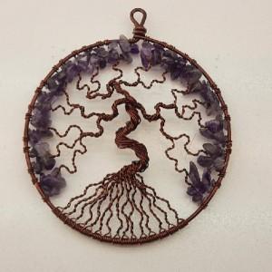 دیوار کوب درخت زندگی سنگ امتیست کدk۱۰۰-تصویر 3