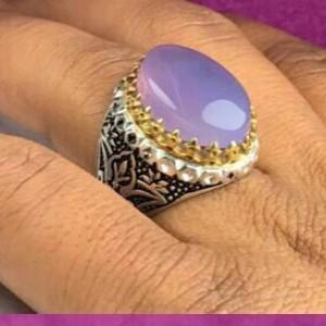 انگشتر عقیق یمنی سوسنی اصل-تصویر 2