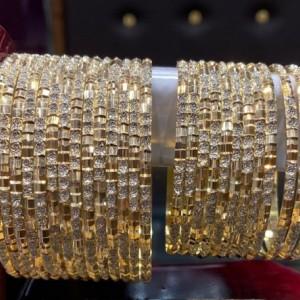 النگو ظریف دو رنگ طرح طلا