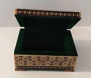 جعبه خاتم کاری جواهرات و زیورآلات