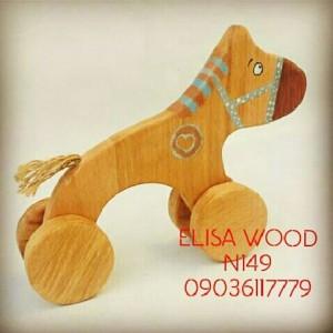 سگ چوبی چرخ دار-تصویر 3