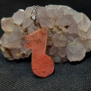 گردنبند و آویز کوارتز هندوانه ای m361 طرح ملودی-تصویر 3