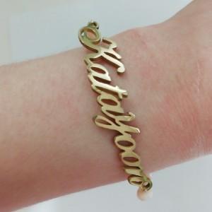 دستبند استیل با پلاک اسم-تصویر 2