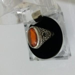انگشتر نقره 925 سنگ لعل-تصویر 2