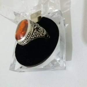 انگشتر نقره 925 سنگ لعل