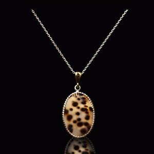 گردنبند نقره سنگ صدف ( برند MASSIA )