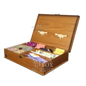جعبه دمنوش جعبه پذیرایی جعبه چوبی لوکس باکس LB10-تصویر 3