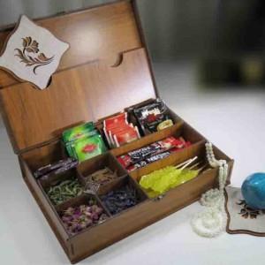 جعبه پذیرایی چای کیسه ای و دمنوش لوکس باکس کد LB10-تصویر 3