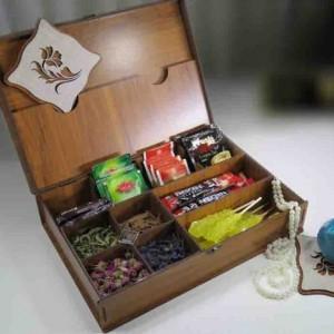 جعبه پذیرایی چای کیسه ای و دمنوش لوکس باکس کد LB10