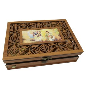جعبه آجیل و خشکبار جعبه پذیرایی جعبه چوبی مدل شاه عباسی کد LB044-تصویر 2