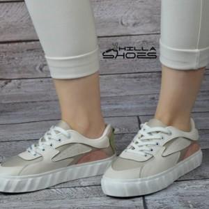 کفش ونس تیکه دوزی چرم و پارچه-تصویر 2
