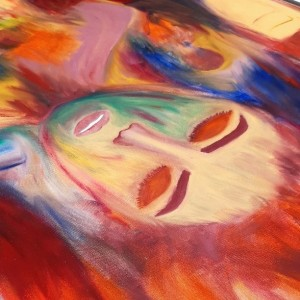 تابلو نقاشی رنگ روغن مدل جدایی کد QAF- 01-تصویر 4