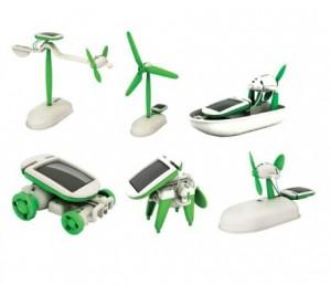 بازی آموزشی ربات 6 در 1 خورشیدی مدل ترکیبی سبز