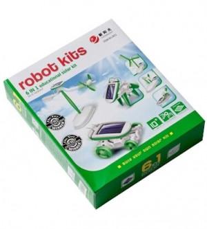 بازی آموزشی ربات 6 در 1 خورشیدی مدل ترکیبی سبز-تصویر 2