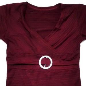 تی شرت زنانه ویسکوز با استایل کژوال مدل یقه چپ و راست-تصویر 5