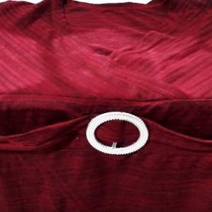 تی شرت زنانه ویسکوز با استایل کژوال مدل یقه چپ و راست-تصویر 2